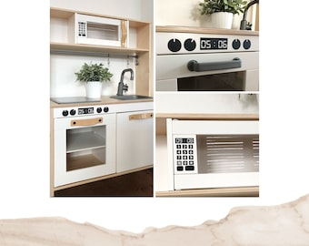 Sticker Complete Set Sticker Children's Kitchen Microwave Oven Display DIY Personalized