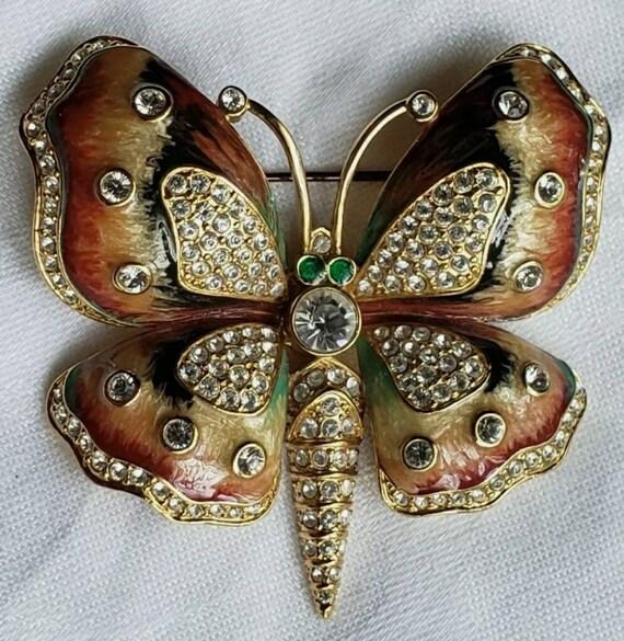 Brooch Designer KJL Kenneth Jay Lane Butterfly Ena