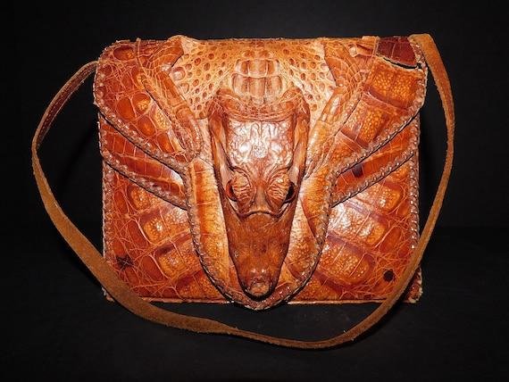 Vintage 1940 Alligator Bag