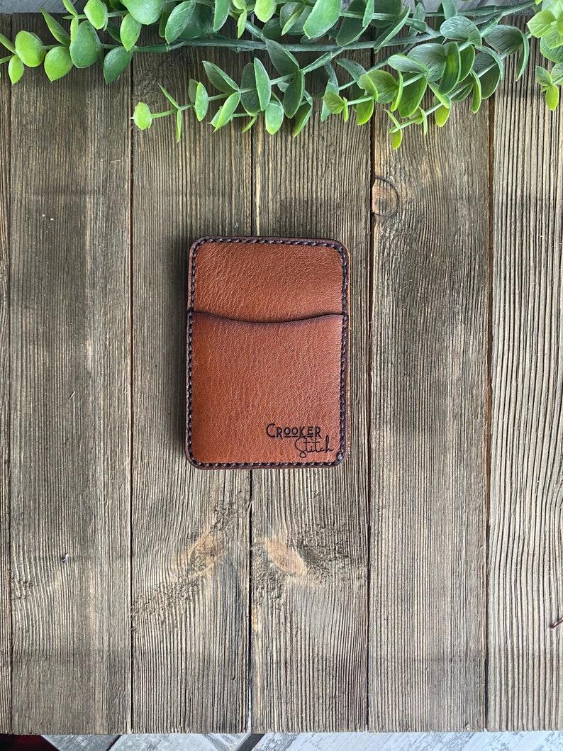 Card Wallet Handmade Wallet Micro Men\u2019s Front Pocket Small Leather Wallet Front Pocket Wallet Card Holder Wallets Gifts for Him