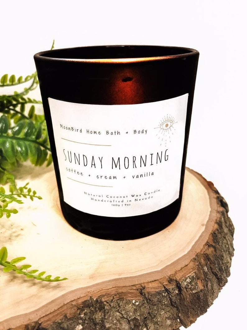 7 oz Candle Delicious Scent Matte Black Candle Unique Candle Sunday Morning Coffee Scented Candle