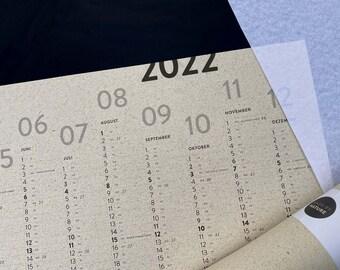 Poster Calendar / Annual Planner / Wall Calendar 2022 – Grass Paper