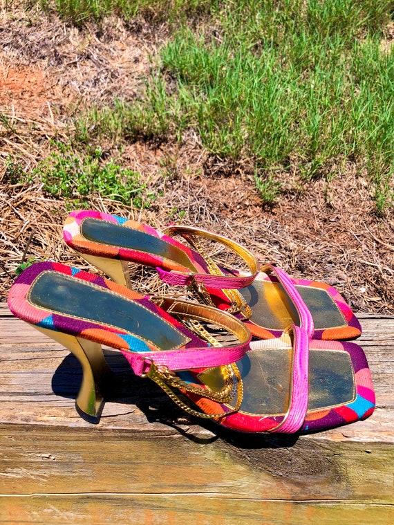 Vintage Groovy Chain Heels