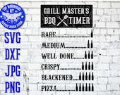 BBQ Grill Timer Beer Funny Humor Sign Beef Chicken Pork Grilling Dad Barbeque Smoke Smoker Svg Dxf Png Vinyl Decal Sticker CNC Laser Clipart