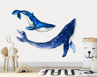 Whale Wall Decals Etsy