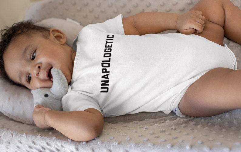 BLM Baby Onesie Melanin Bodysuits Unisex Kid One-piece Infant Kids Clothes Jersey Bodysuit Unapologetic Baby Onesie