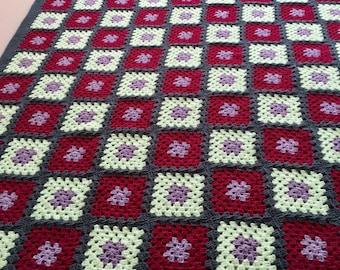 Handmade blanket, crochet blanket