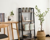 Sturdy and Attractive Wonderful Design Multifunctional 4-Tier Ladder Shelf Ladder Bookcase Bookshelf Display Rack Plant Stand