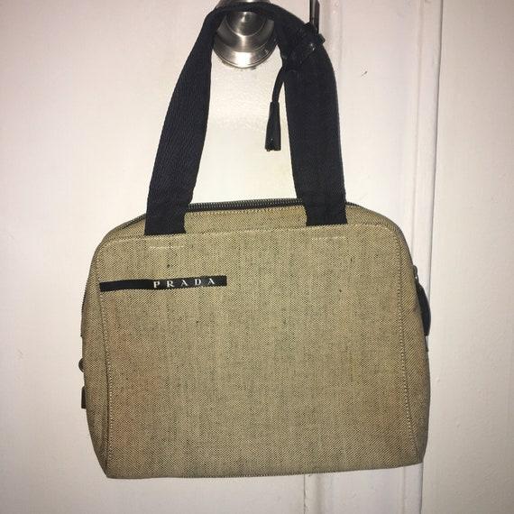 Vintage 90s Canvas Prada Bag