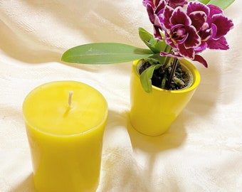 The Suzy Beeswax pillar candle