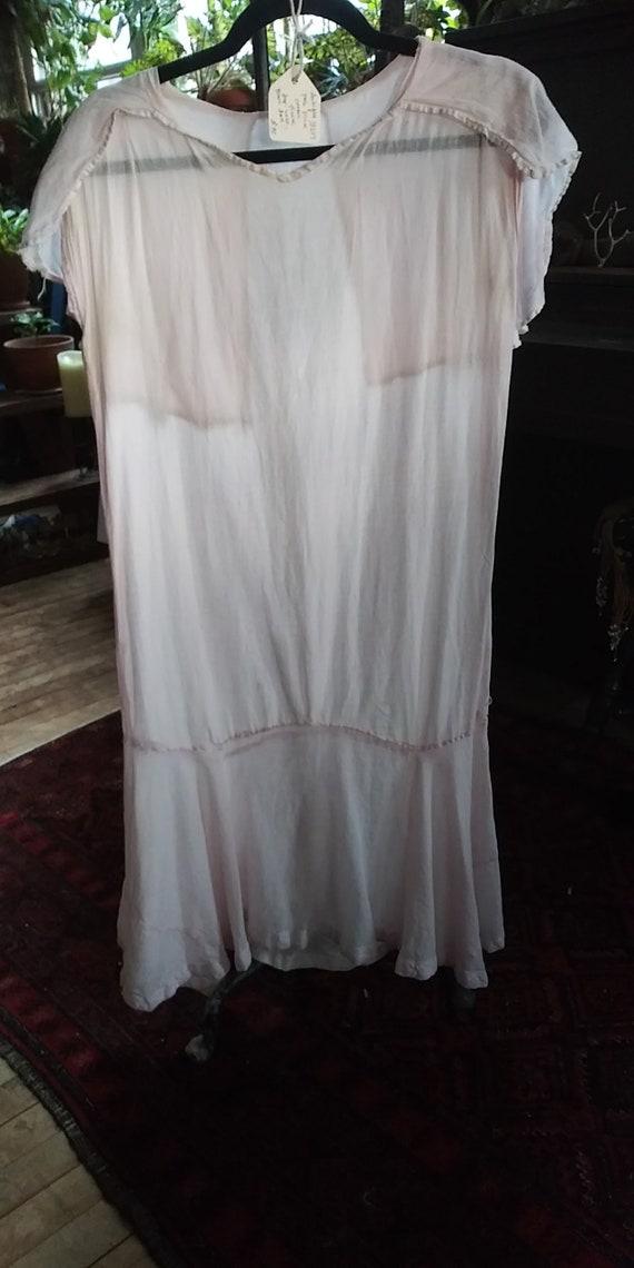 Antique 1920s cotton frock / beach dress