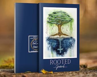 Rooted Writing Journal, Notebook - Decosa Studio Original Christian Artwork (blue)