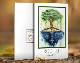 Rooted Writing Journal, Notebook - Decosa Studio Original Christian Artwork (white)