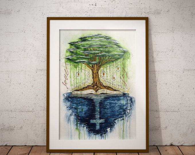Rooted- Original Christian Artwork LIMITED EDITION Giclee Print Jesus Painting Wall Art by Decosa Studio
