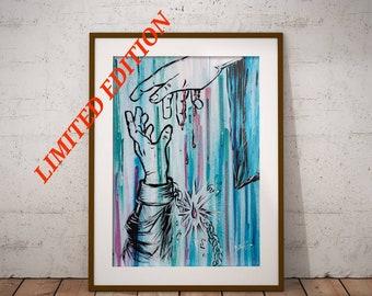 Chain Breaker - Original Christian Artwork LIMITED EDITION Giclee Print Jesus Painting Wall Art by Decosa Studio