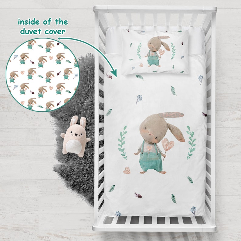 Double Duvet Cover Set Crib Kids Duvet Cover Set Personalized Cute Rabbit Duvet Cover Set Single Duvet Cover Set
