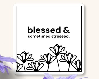 Blessed & Sometimes Stressed Sticker