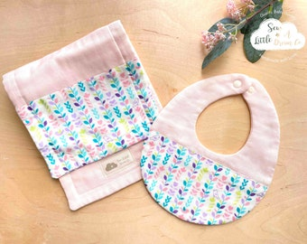 Baby Shower Gift Set of 2 Japanese Burp Cloths