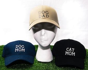 Birthday Gifts, Dog and Cat Hats, Vinyl Strap Hats, Dog Mom Hat, Cat Mom Hat