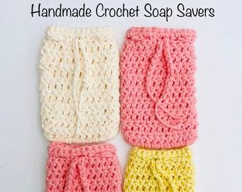 100% Cotton Soap Saver Bag | Handmade Cotton Crochet Soap Saver | Soap Buddy Body Scrubber| Eco Friendly Zero Waste Plastic-Free Soap Holder