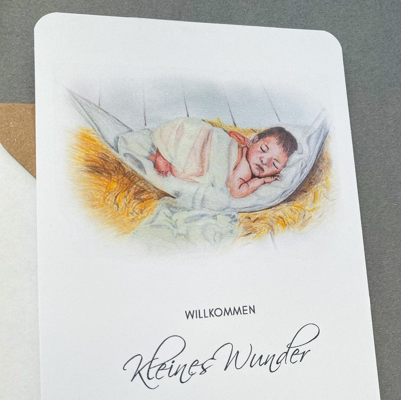Welcome Little Miracle Baby Gift Card Congratulations Card Newborn Congratulations Card for Birth for Boys and Girls