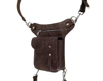 Genuine Leather Handmade Leg Bag,Fanny Pack,Drop Thigh Purse