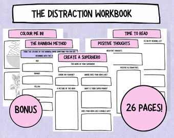 The Printable Distraction Workbook - Distract yourself when you're feeling anxious/panic