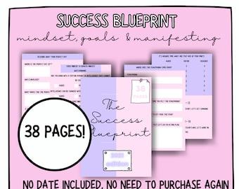 The Success Blueprint | Manifesting, goals and mindset printable | Manifestation workbook | Mindset PDF printable | A4 Goal Printable