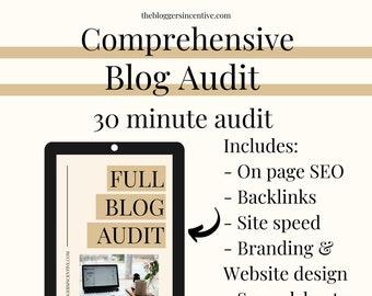 30 Minute FULL comprehensive blog audit | Full blog audit for bloggers | PDF Blog audit | I will complete a full content blog audit