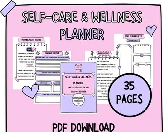 Self-care Workbook | Self-Love Workbook | Self-Help Worksheets | Printable Worksheets | Self-care Printable workbook | A4