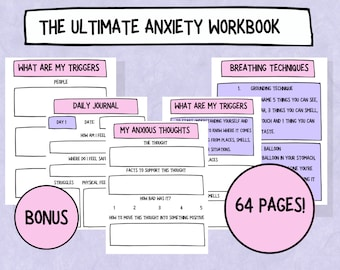 The Ultimate Anxiety Workbook - Printable Version!