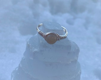 Wire Wrap Ring Dragon/'s Eye Handmade Copper Ring Wire Wrapped Jewelry Blue Quartzite Ring Copper Anniversary Artisan Ring Canadian Seller