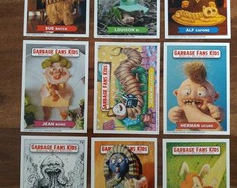 Garbage Pail kids fan set (cards in the minds of crados)