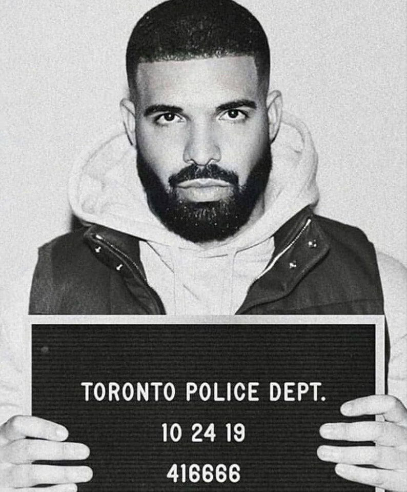 Drake Mug Shot Tee Shirt