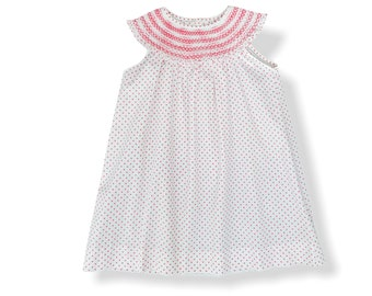 Smocked Sophie Dress, Toddler and Girl Dress, light summer dress, bertha collar, embroidered dress, special occasion, birthday dress