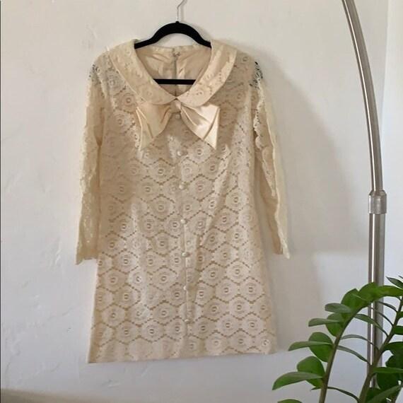 Vintage Lace Mod Mini Dress