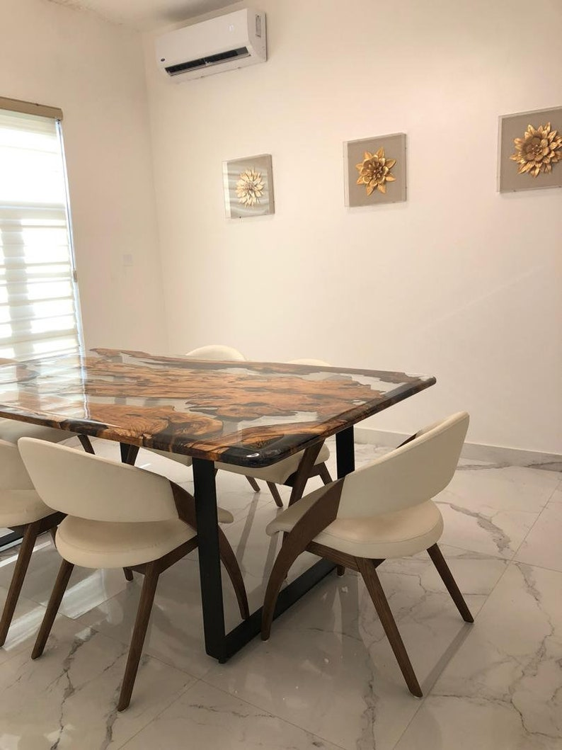 Epoxy Resin Wooden Dining Table