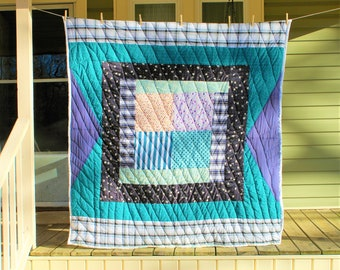 Handsewn Quilt, Quilted Wall Hanging, Quilt Top, Handstitched Quilt, Gee's Bend Quilt