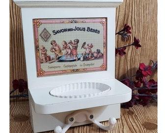 Vintage Style Soap Dish w/Towel Hooks