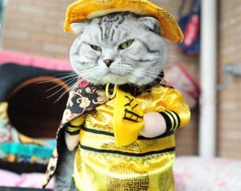 Funny Clothes or Halloween Costumes or Party Costume Suits for Cats, Puppies or Small Dogs
