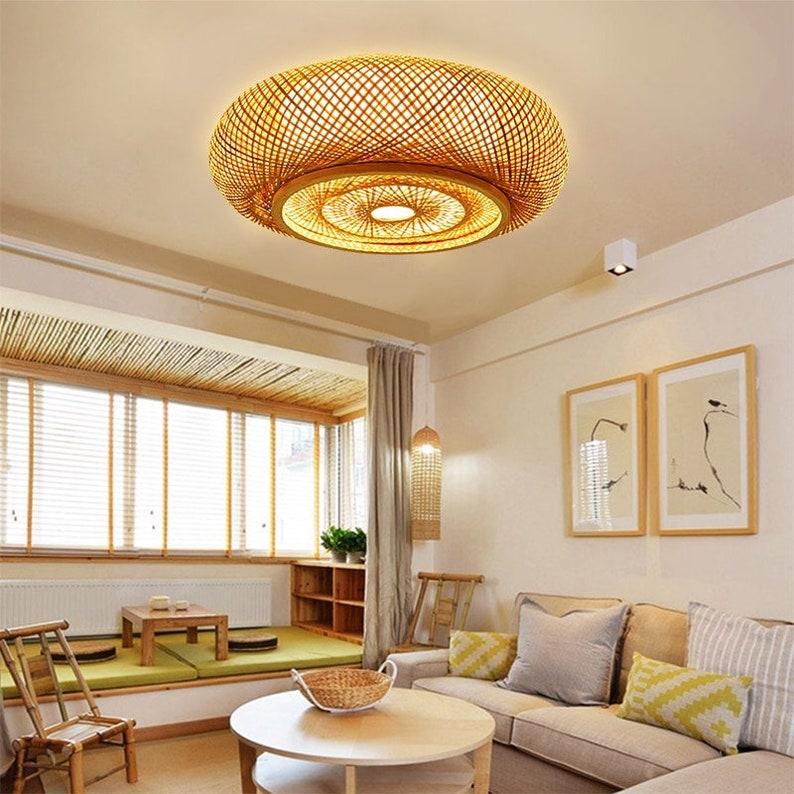 Bamboo Ceiling Lights  Droplight-Ceiling Light  Handmade image 0