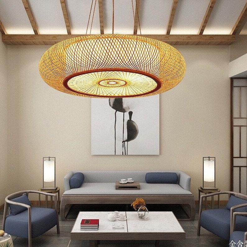 Bamboo Ceiling Lights/ Pendant Light Version  Droplight image 0