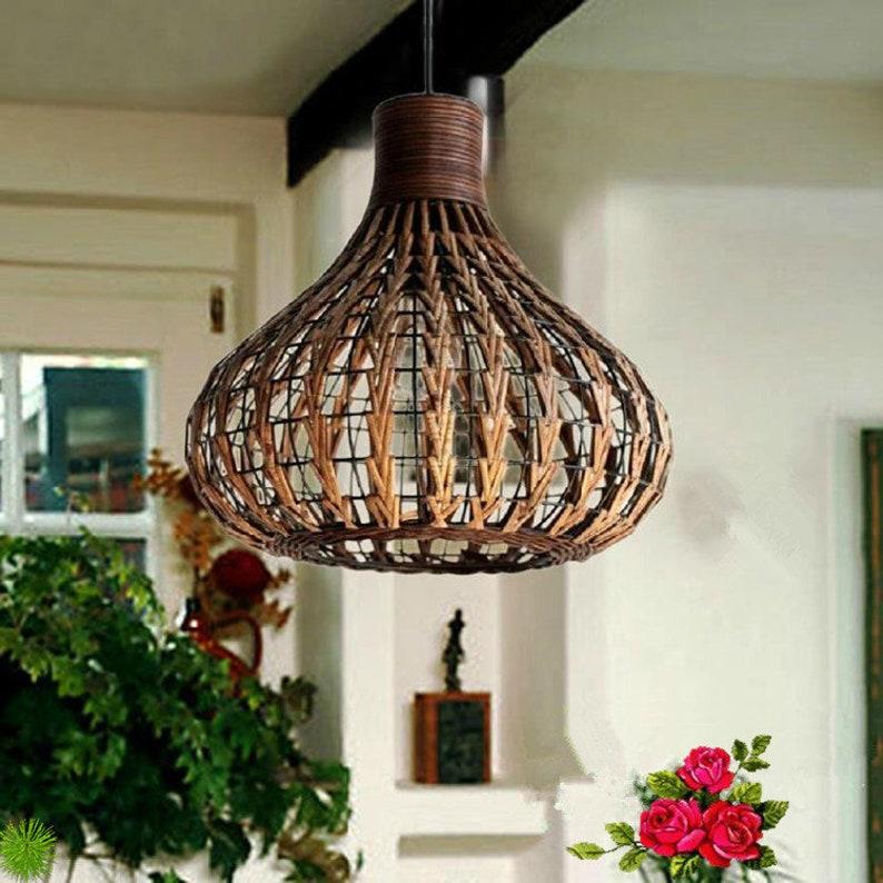 Vine  Iron Pendant Light  Bamboo Hanging Light  image 0