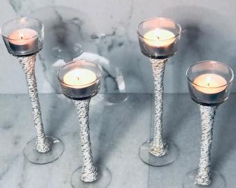 Long stem candle votive/ tea light candle holders