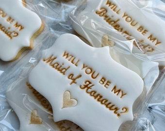 Will you be my … Bridesmaid Proposal - Maid of honour Proposal Sugar Cookies Bridal party - bridesmaid gift