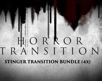 Animated Goth, Horror & Spooky Stinger Transition Bundle Set (Twitch Overlay) - Four (4) Designs - Instant Download