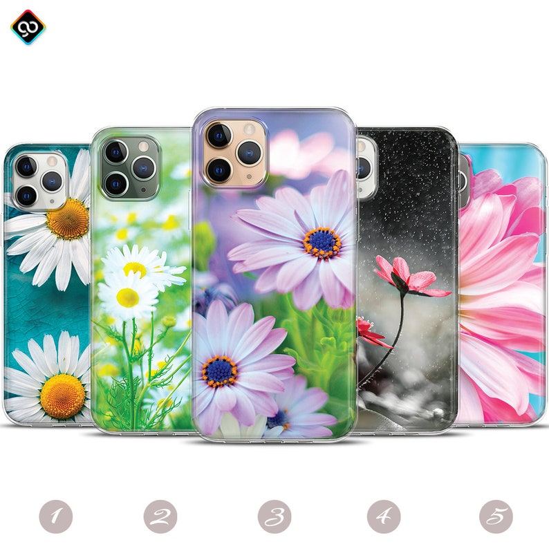 Daisy Wild Flower Nature Garden Flowers Phone Case Cover iphone 12 Pro Mini Max 11 8 XR X Plus Personalized Soft Tpu Silicone Samsung Huawei
