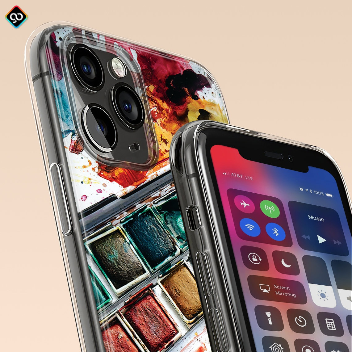360° Silicone Protective Clear Crystal Thickened Case
