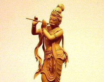 Krishna Statue,50 Cm hight , Wooden Hand Carved Baal Krishna Standing Krishna Statue,wooden statue ,wooden carved,