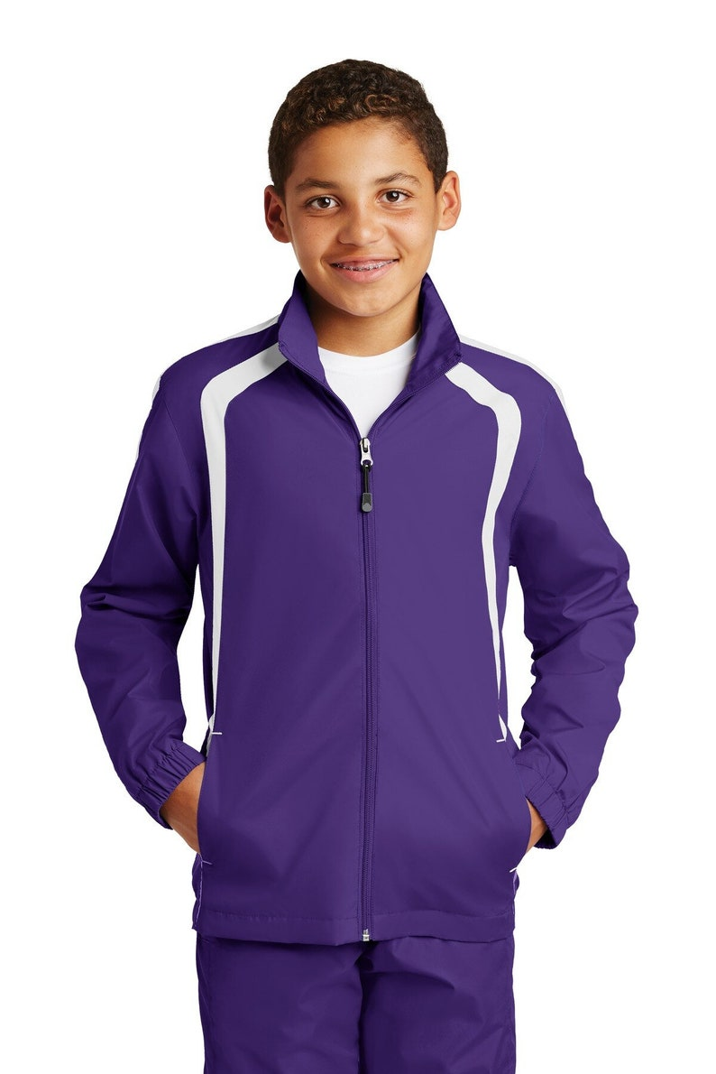 Custom Embroidered Sport-Tek Youth Colorblock Raglan Jacket Personalized with Custom Design or Company Logo YST60